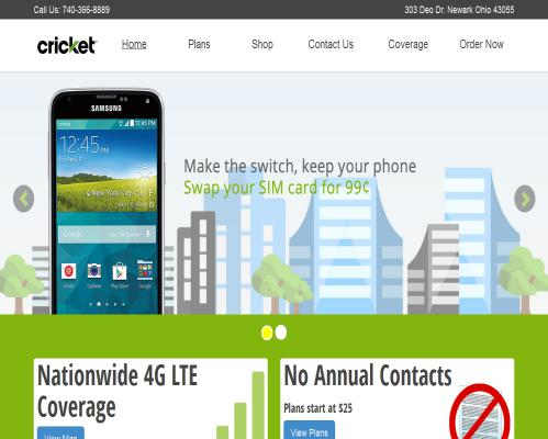 Cricket Wireless  Responsive Design in Newark Ohio