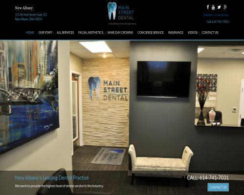 Main St Dental Resposnive Design in Newark Ohio