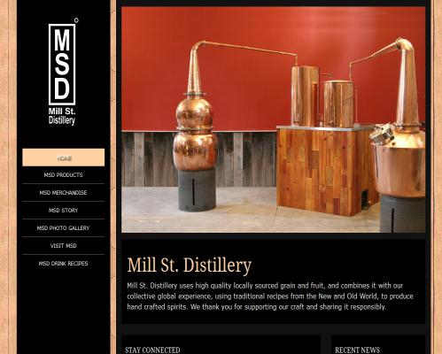 Mill St Distillery Fully Responsive Web Design in Newark Ohio